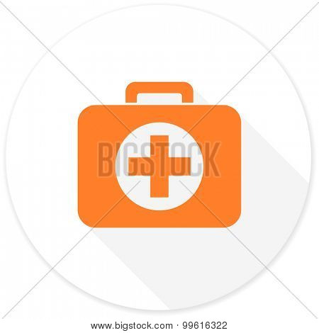 first aid flat design modern icon with long shadow for web and mobile app