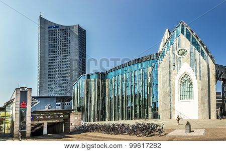 Modern University Hall In Leipzig