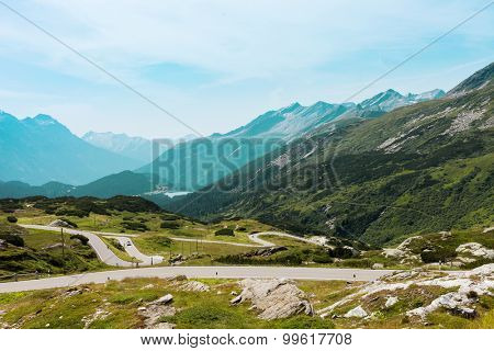 The road in the mountains