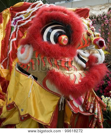 Close-up of chinese dragon head
