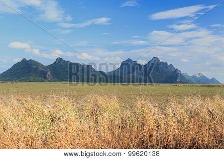 Beautiful Scene And Mountain At Sam Roi Yod National Park, Thailand