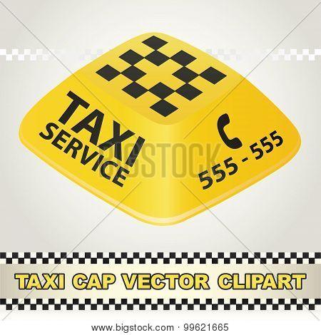 Cap Taxi Service Vector Clipart