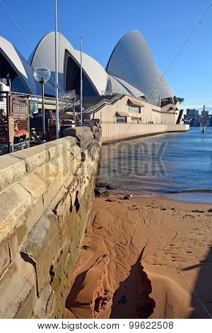 An Unusual View Of Sydney Opera House Location & Foundations