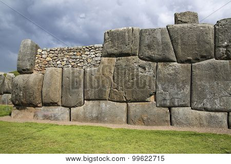Sacsayhuaman Walls, Ancient Inca Fortress Near Cuzco, Peru