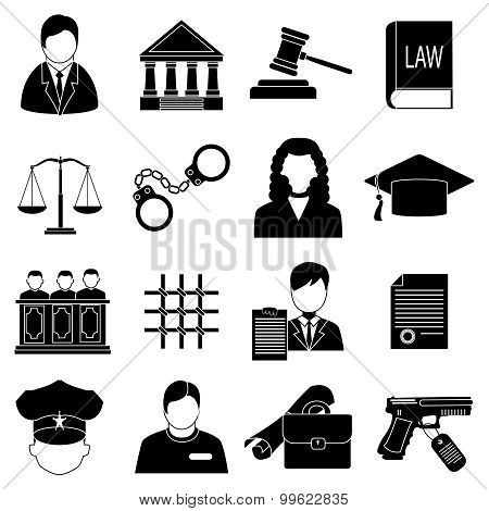 Justice law Icons Set