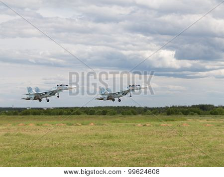 Su-30 Taking Off At An Airshow