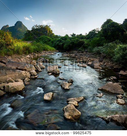 River in the National Park of Phong Nha Ke Bang. Vietnam