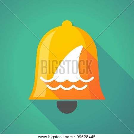 Bell Icon With A Shark Fin
