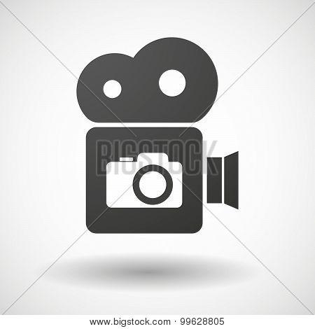 Cinema Camera Icon With A Photo Camera