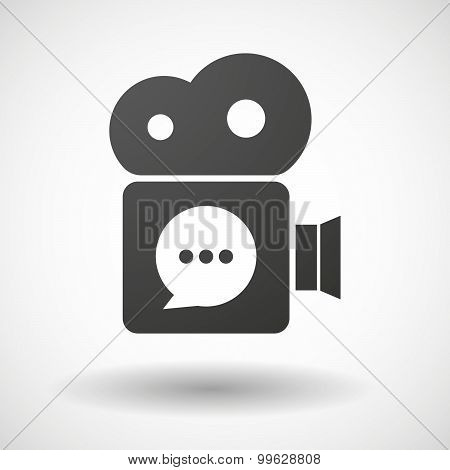Cinema Camera Icon With A Ruble Sign