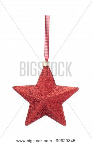 Christmas decoration red star