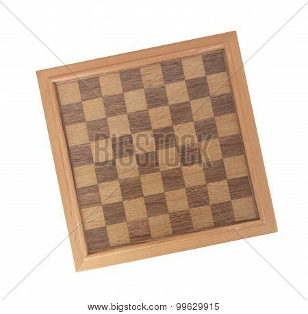 Empty Wood Chessboard