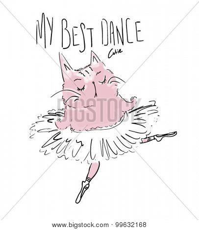 cute cat ballet