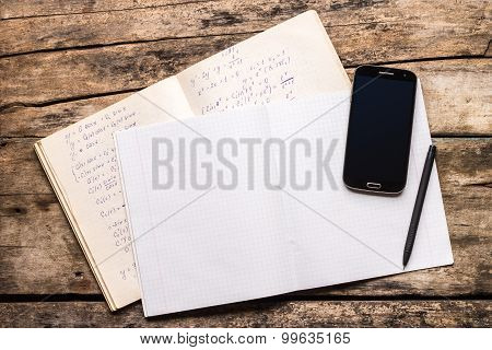 Top View Image Of School Notes Background