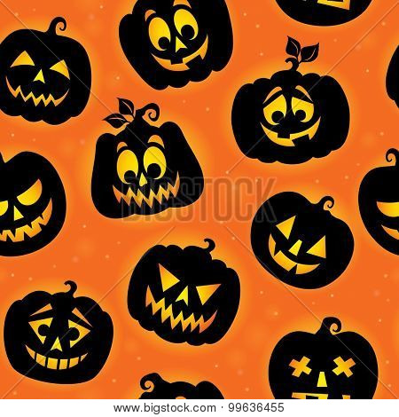 Halloween seamless background - eps10 vector illustration.