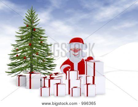 Christmas Card - 3D Illustration