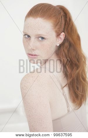 Beautiful Freckled redhead