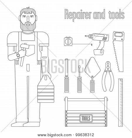 Repairman And Tools