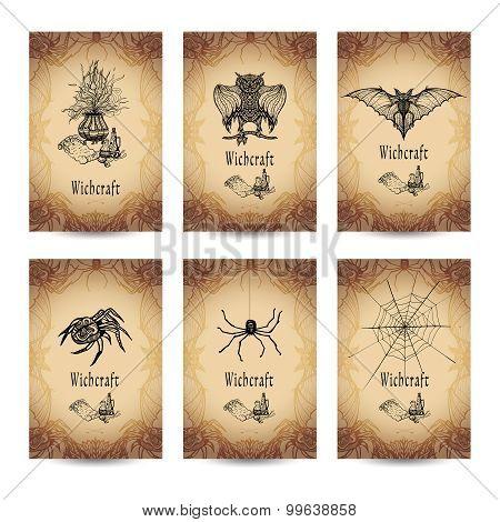 Vintage Witchcraft Banner Set