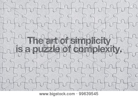 Jigsaw Puzzle, Simplicity Concept