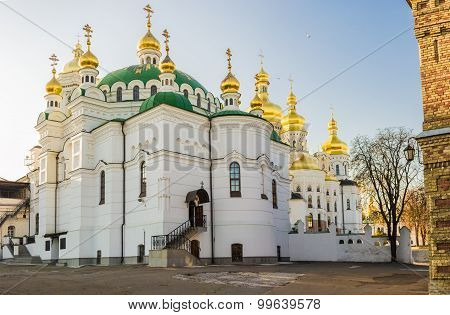 Refectory Church Of The Kiev-pechersk Lavra In Autumn
