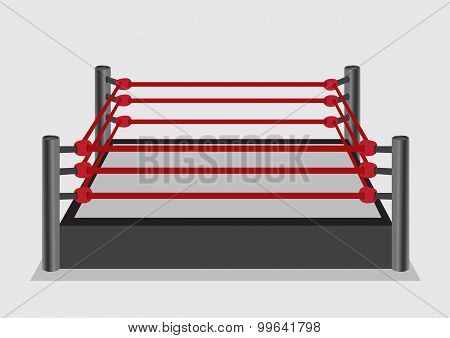Wresting Ring Vector Illustration
