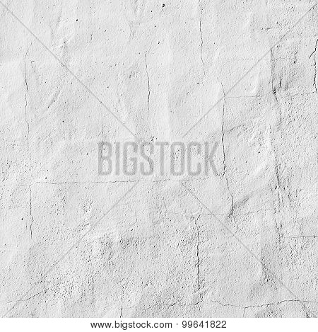 White Painted Old Concrete Wall