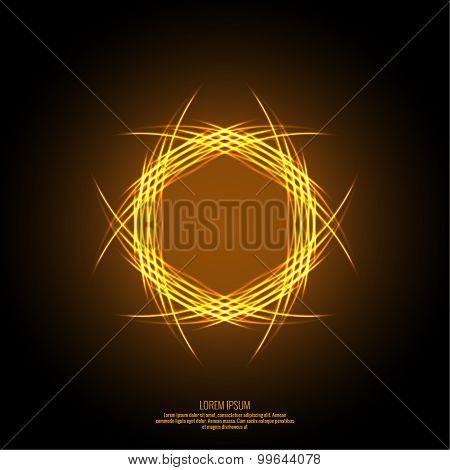 Abstract background with fiery fractal