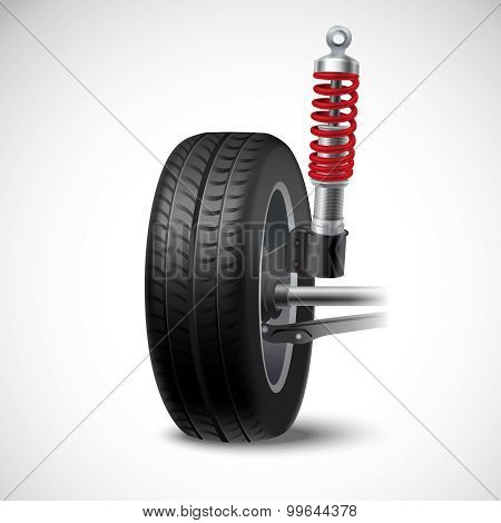 Car Suspension Illustration