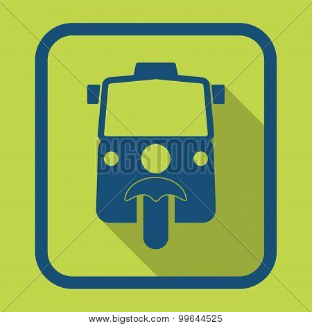 Sign tuk tuk in Bangkok of Thailand design vector illustration.