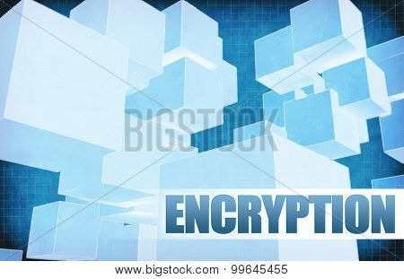 Encryption on Futuristic Abstract for Presentation Slide