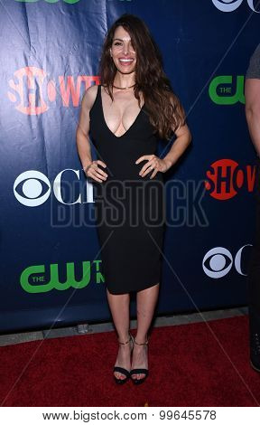 LOS ANGELES - AUG 10:  Sarah Shahi arrives to the Summer 2015 TCA's - CBS, The CW & Showtime  on August 10, 2015 in West Hollywood, CA