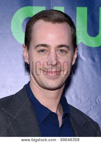 LOS ANGELES - AUG 10:  Sean Murray arrives to the Summer 2015 TCA's - CBS, The CW & Showtime  on August 10, 2015 in West Hollywood, CA