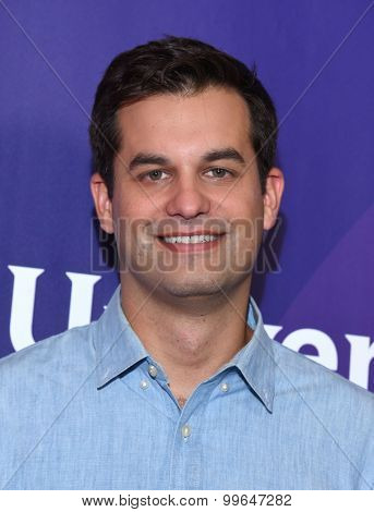 LOS ANGELES - AUG 12:  Michael Kosta arrives to the arrives to the Summer 2015 TCA's - NBCUniversal  on August 12, 2015 in Beverly Hills, CA