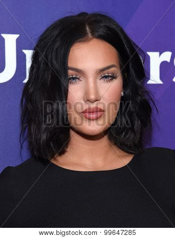 LOS ANGELES - AUG 12:  Natalie Halcro arrives to the arrives to the Summer 2015 TCA's - NBCUniversal  on August 12, 2015 in Beverly Hills, CA