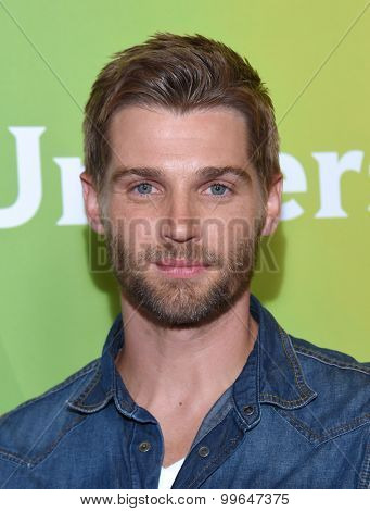 LOS ANGELES - AUG 12:  Mike Vogel arrives to the arrives to the Summer 2015 TCA's - NBCUniversal  on August 12, 2015 in Beverly Hills, CA