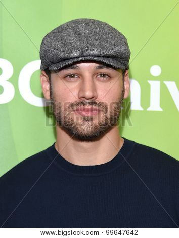 LOS ANGELES - AUG 13:  Ryan Guzman arrives to the Summer 2015 TCA's - NBCUniversal  on August 13, 2015 in Hollywood, CA