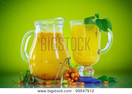 Juice From Ripe Sea-buckthorn Berries
