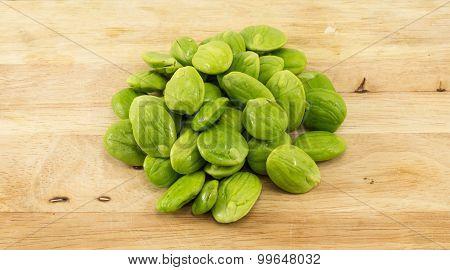 Parkia Speciosa Seed On Wood
