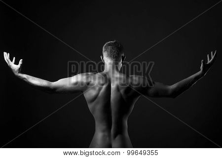 Male Naked Back