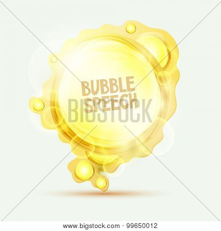 Abstract orange speech bubble