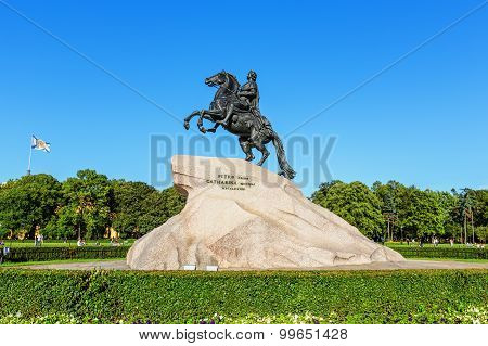 Saint Petersburg/Russia - August 01, 2015: The Bronze Horseman