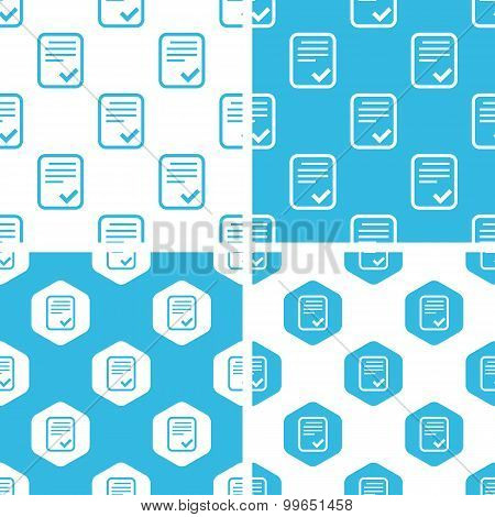 Approved document patterns set