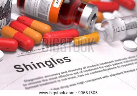Shingles Diagnosis. Medical Concept.