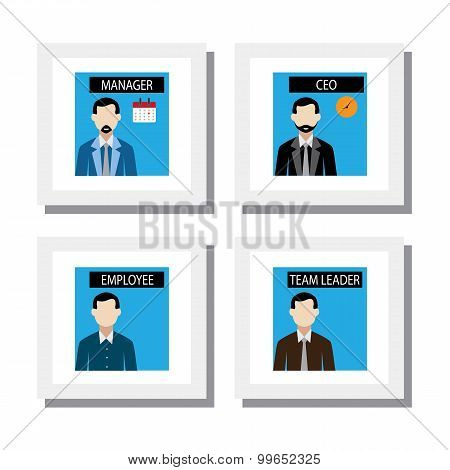 Set Of Office Staff And Management People - Vector Icons