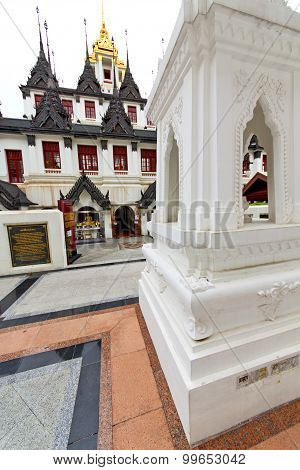 Pavement Gold    Temple   In   Bangkok  Thailand Incision  The