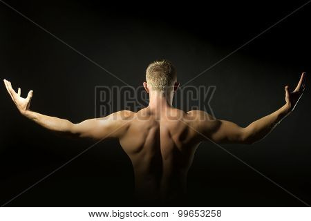 Male Undressed Back