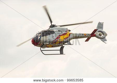 Radom, Poland - August 23:aerobatic Spanish Helicopter Patrol (aspa Patrol) Perform During Air Show