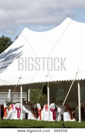 Wedding Tent For Outdoor Dinner And Reception