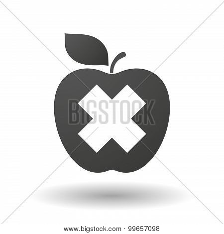 Apple Icon With An Irritating Substance Sign